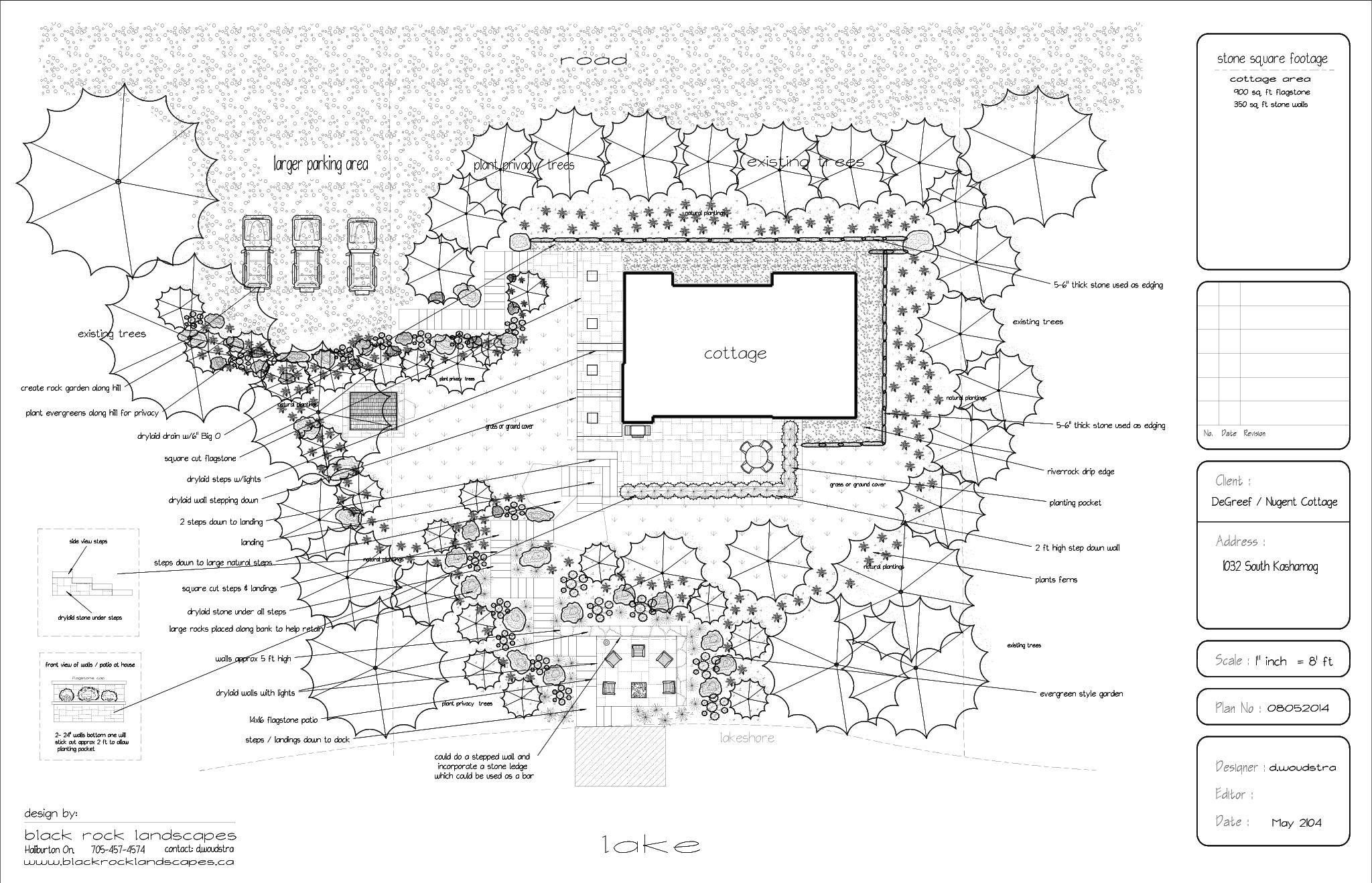 Services black rock landscapes inc haliburton bancroft for Planning your landscaping
